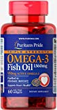 Puritan's Pride Triple Strength Omega-3 Fish Oil 1360 mg (950 mg Active Omega-3)-60 Softgels