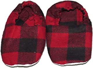 Buffalo Plaid Baby Shoes, Slippers, Booties