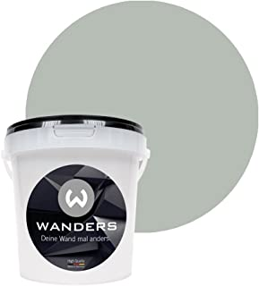 Wanders24 Pintura de pared pintura de pizarra mate (1 litro, Gris pluma) lavable, creativo, escribible, pintura de pizarrón