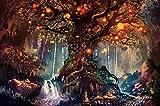 Árbol de los deseos del bosque Puzzle Juego Toys Adultos Clásico Madera Jigsaw Puzzle 1500 Piezas
