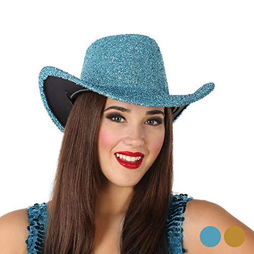 Atosa - 12459 - Chapeau de Cowboy Bleu Brillant
