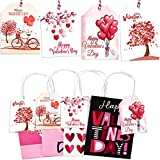 Happy Valentine's Day Gift Tags - Heart Gift Wrap Label for Lover,...