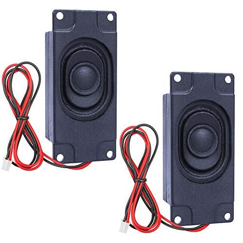 InduSKY 2 Stücke Lautsprecher 3 Watt 8 Ohm mit JST-PH2.0 Schnittstelle für Arduino Electronic DIY-Projekte