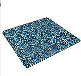 Guuisad Manta Picnic Oxford Textil Manta de Picnic al Aire Libre Espesado Mat de césped Plegable Picnic Picn Picnic Adecuado para Viajes Familia Reúna Camping