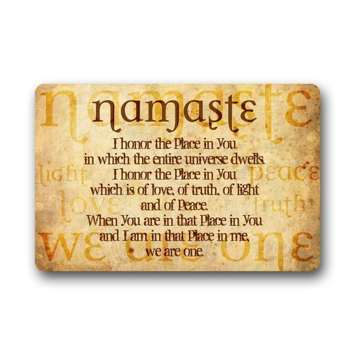 Custom Yoga Symbol Namaste Door Mats 18'x30' by A-COUNT