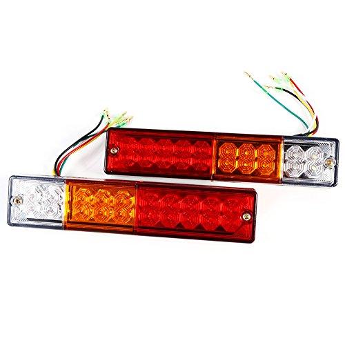 Lot de 2 feux arrière 30 LED pour camion - Étanche 12 V/24 V (12 V)