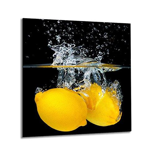 Crédence de cuisine en verre trempé résistant à la chaleur 60 x 65 cm Graphique n° 1307