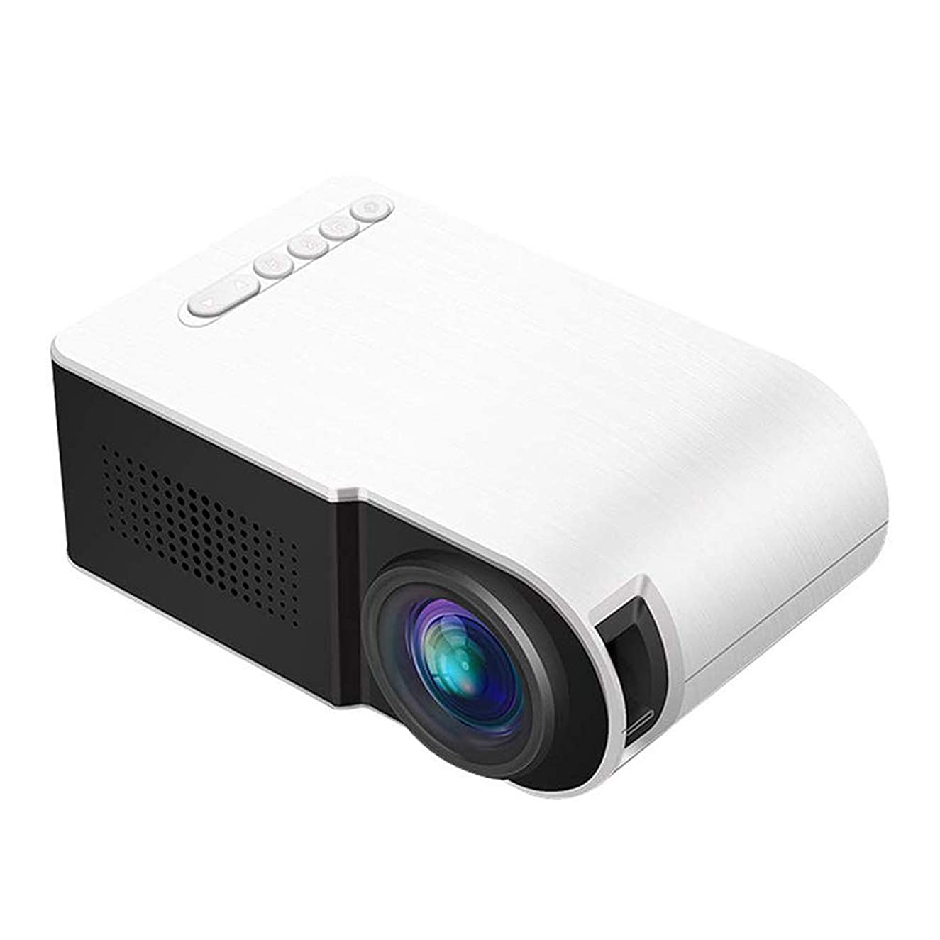 LED Mini Portable Projector Full HD Video Projectors, Support 1080P, Laptop, PC, TV, SD Card, for Movies, Sports and Video Games