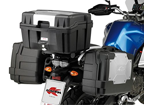 Givi KGR46PACK2 Baúl Lateral, Cover en Aluminio, Cada 46 litros de Volumen y 10 kg de Carga, Set de 2 Piezas