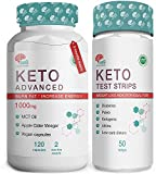 Keto Diet Pills Plus Ketosis Test Strips for Men & Women – 120