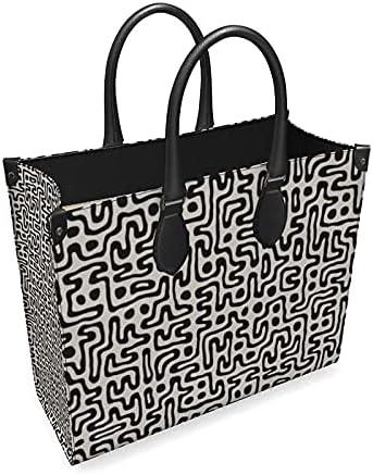 The Fashion Access Tucson Mall Hand Drawn Labyrinth Shopper Bag Leather Chicago Mall