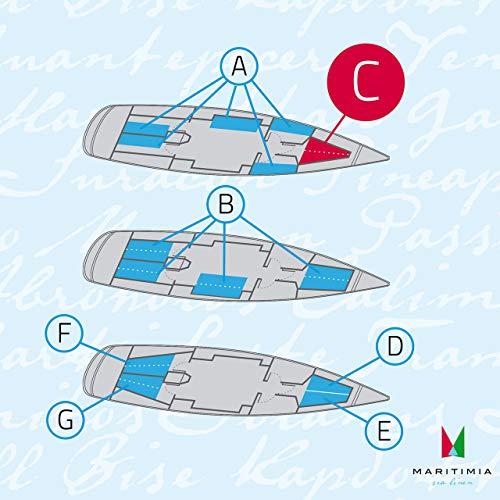 MARITIMIA Yacht Spannbettlaken (Typ C) Bug Kajüte Trapez Doppelkoje Marineblau