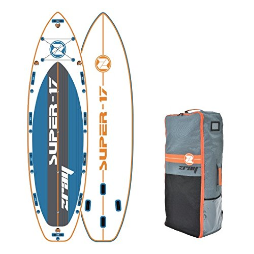 """Z-Ray Super 17' SUP Stand Up Paddle Board Package W/Travel Backpack & Closing Belt, 8"""" Thick"""