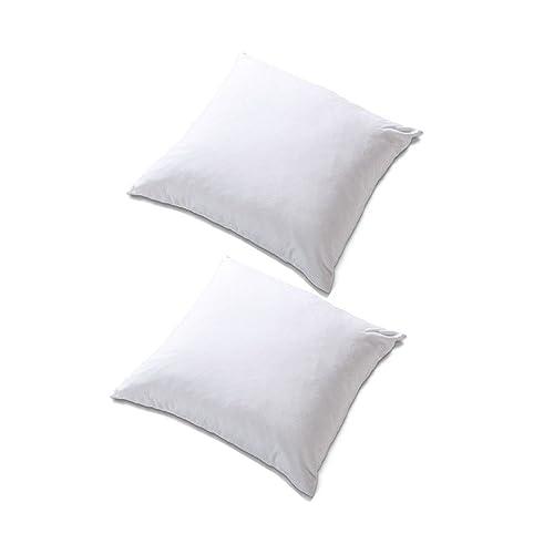 "Homefab India Reliance 2 Piece Microfibre Cushion Filler Set - 12""x12"" (White)"