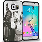 CASE LOCK LTD -SW Darth Vader Storm Trooper Han Solo Yoda R2D2 Jedi -Hard Rubber Case for New Samsung Galaxy S7 Edge, Made in The USA -Style 2