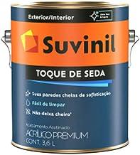 Tinta Suvinil para parede acrilico toque de seda 3,6L - Branco neve - 53422448