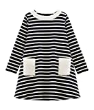 Petit Bateau Robe ML_5117201, Multicolore (Smoking/Coquille 01), 98 (Taille Fabricant: 3ans/95centimeters) Fille