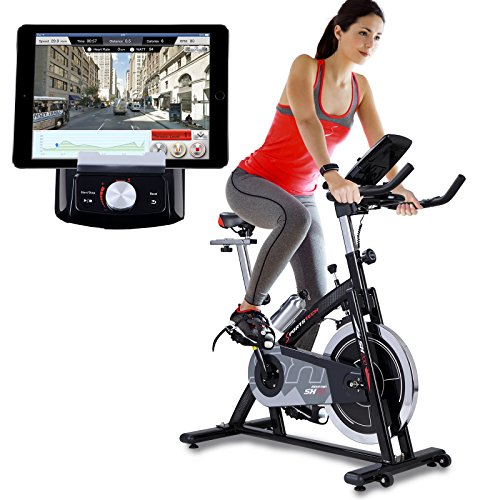Sportstech Indoor Exercise Bike SX200 - Quality German Brand- Video Events & Multiplayer App, 22KG Flywheel, pulse belt compatible-Speedbike with belt drive-Ergometer up to 125Kg, incl. eBook