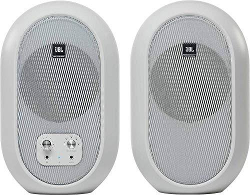 JBL Professional 1 Series 104-BT Kompakt-Desktop-Monitore mit Bluetooth, weiß, paarweise verkauft (JBL104-BT-WH)
