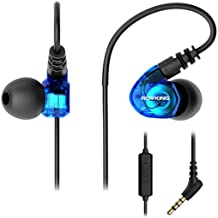 ROVKING Wired Over Ear Sport Earbuds, Sweatproof in Ear Running Headphones for Gym..