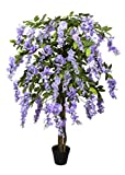 GreenBrokers Premium Artificial Lilac Wisteria Tree 150 cm Potted Plant, Purple