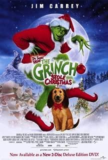 Dr. Seuss' How the Grinch Stole Christmas Movie Poster (27 x 40 Inches - 69cm x 102cm) (2000) Style C -(Jim Carrey)(Jeffrey Tambor)(Christine Baranski)(Taylor Momsen)(Molly Shannon)(Josh Ryan Evans)