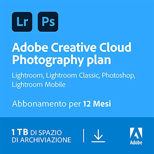 Creative Cloud Photography plan | Standard 1TB | 1 Anno | PC/Mac | Codice d'attivazione via email
