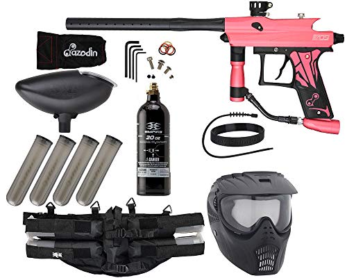 Action Village Azodin KAOS 3 Paintball Gun Epic Package Kit (Dust Pink with Dust Black Parts)