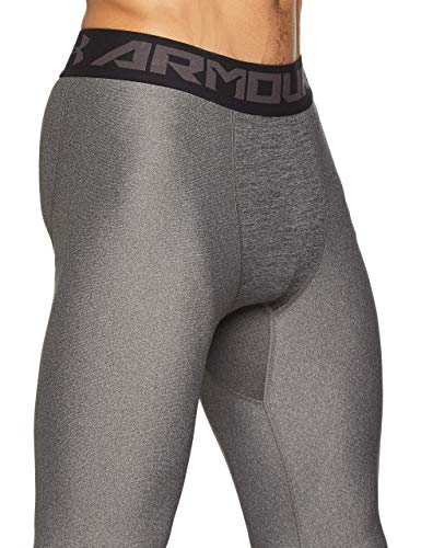 Under Armour Herren HeatGear 2.0 komfortable Sportleggings für Männer, leichte hose mit Kompressionspassform, Grau, Medium
