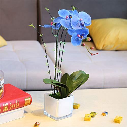 LHY DECORATION Phalaenopsis Bonsai de orquídeas de Flores Artificiale