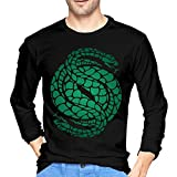 Camiseta de Manga Larga para Hombre Men's Des-Tiny 2 Gambit Logo Soft Long Sleeve Tshirt Black Unique Design