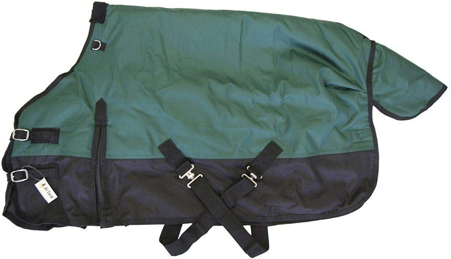 Medium Weight Pony Turnout Blanket 1200D Rip Stop Water Proof Green, 50