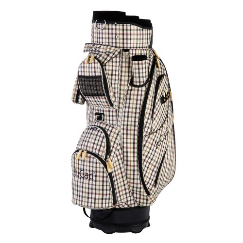 JuCad Golf Cart Bag Style Nylon Colore: Beige a Quadretti