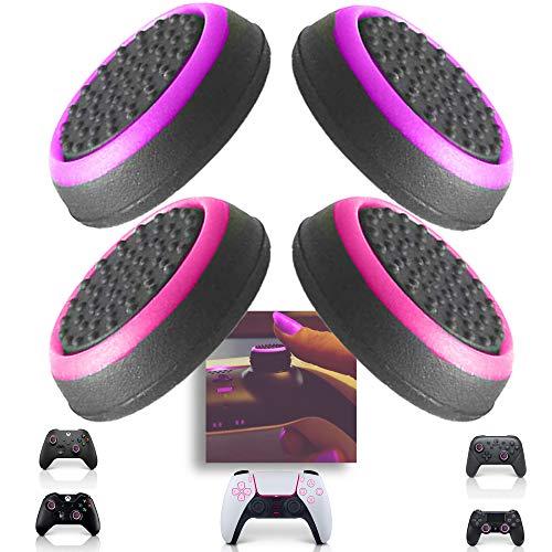 MatoSan - 4 Pink & Friends | Grip Kappen Zubehör Set für Frauen | Aim Kontrolle & Assist für Xbox Switch PS5 PS4 Controller Sticks | FPS Boost Schutzkappen