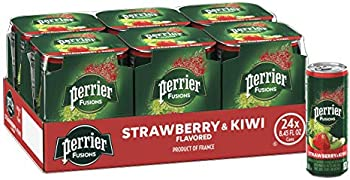 24-Count Perrier Fusions, Strawberry and Kiwi Flavor, 8.45 Fl Oz Cans