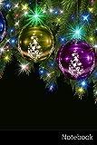 Notebook: Navidad, Adornos De Navidad, Pelota, Chuchería De La Navidad Cuaderno / Diario / Libro de escritura / Notas - 6 x 9 pulgadas (15.24 x 22.86 cm), 150 páginas, superficie brillante.