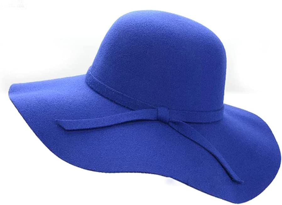 PokemHent Ladies Seattle Mall Wide-Brimmed Financial sales sale Felt Bowler Faux Fedora Hat Wool