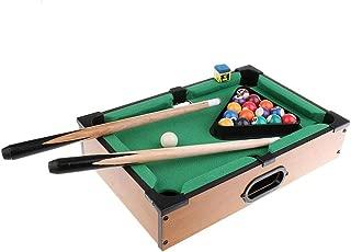 SODIAL Mini Tabletop Pool Table Desktop Billiards Sets Children's Play Sports Balls Sports Toys Xmas Gift Family Fun Entertainment