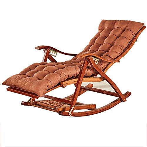 Chaise Longue Pliante En Bambou Chaise Longue Pliante En Bambou Naturel Design Ergonomique 170 ° Coussins Extensibles Réglables Édition Longue