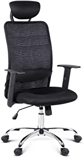 Artiss Mesh Office Chair Executive Modern Eames Replica Computer Desk Seat Work Home Black High Back Lumbar Support Swivel Task Chair