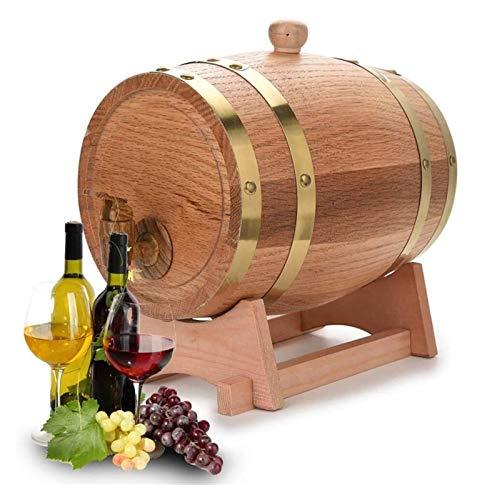 JIUYUE Roble envejeciendo barriles Whisky Barrel Dispenser Bucket Sin Fugas para el Almacenamiento Vino y licores y Whisky, 5L Licorera