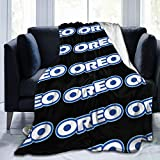 Tappetino Or-Eo Ultra-Soft Micro Fleece Blanket Chocolate Sandwich Biscuit Bedding Car Goods Cool Personality Fashion 3D 60'X50' Black