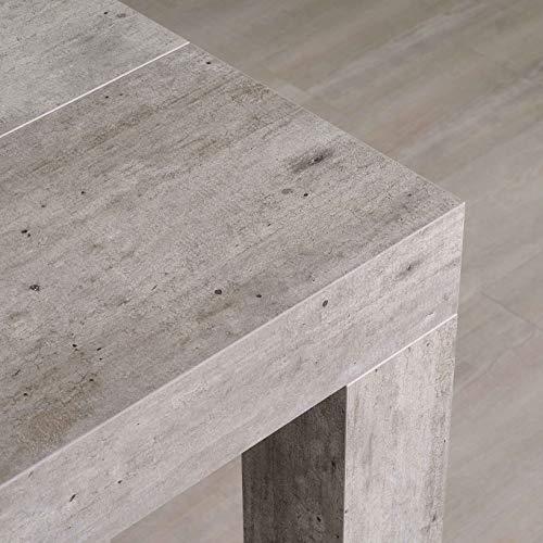 icreo Tavolo CONSOLLE ALLUNGABILE Modello ATENA Cemento CM 46/306X90 H75 Arriva MONTATA in nobilitato melaminico di qualità con 5 allunghe cm 52. Prodotto Interamente Italiano