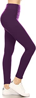 Leggings Depot Yoga Waist REG/Plus Women's Buttery Soft Solid Leggings