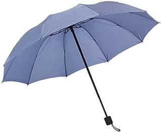 XIAO Umbrellas, Umbrellas, Sunshade Umbrellas, Men's And Women's Universal Umbrellas, Business Umbrellas, Dark Blue (ten Bones For Two Models), Folding Size: 28cm Happy day (Color : Light blue)