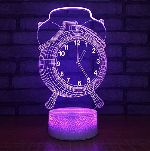 Touch Control Und Remote Control 3D Led 16 Farbe Usb Tischleuchte Wecker Modell Helle Sichtnachtlicht Freunde Kinder Geschenk Ist Nicht Eine Reale Uhr
