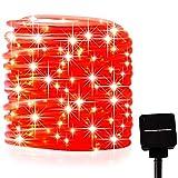 picK-me Luces de Cuerda Solar, Impermeable al Aire Libre 200 LED 66 FT / 20 M, Luces de hadas, Tubo...