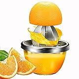 WQJJ Spremiagrumi Manuale con Tazza di Vetro, Spremi Mano Limone Agrumi Arance in Acciaio, Spremi Limoni Orange Juicer Manuale, Anti-Spill Juice Squeezer Pressa per Agrumi Limone