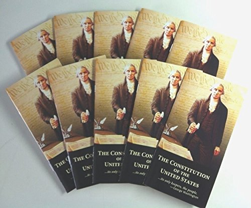 The United States Constitution and Declaration of Independence (Set of 10 Pocket Edition Booklets)