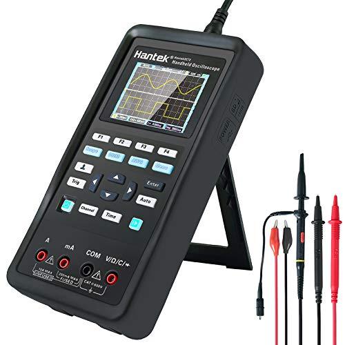 osciloscopio digital, instrumento de prueba universal 2 en 1, osciloscopio + multímetro, batería de litio de gran capacidad (70 MHz + 2CH + DMM)